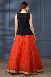 Floral Embroidered Top & Circular Skirt - Maybell Womens Fashion