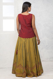 Skirt Sets - Maroon - Maybell Womens Fashion