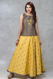 Embroidered Top & Circular Skirt - Maybell Womens Fashion