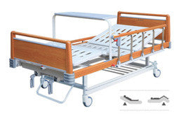 2-Light Wooden Function Manual Bed