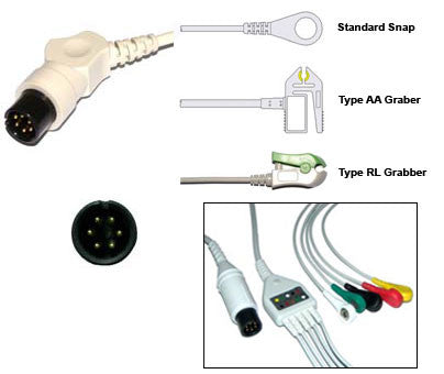 Air Shhields Alt Bci Colin Ecg Cable With Leads