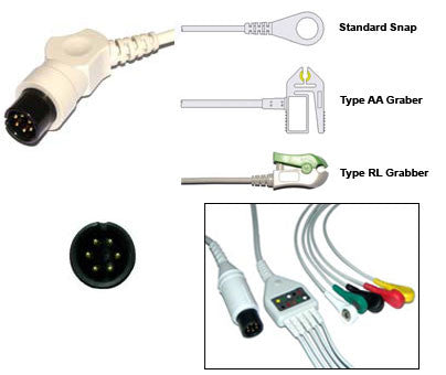 Datascope Ecg Cable With Leads