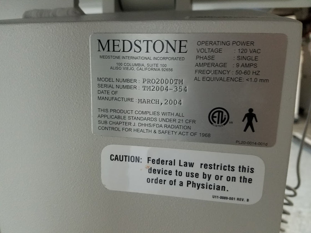 MEDSTONE PRO 2000 TM Three Movemet Motorize Table FLUOROSCOPY - C-ARM - IMAGING TABLE