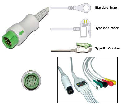 Mindray Pm5000 6000 Ecg Cable With Leads