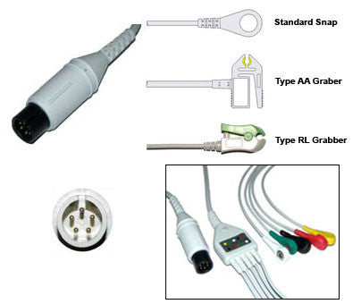 Spacelabs Burdick Ge Corome Ecg Cable With Leads