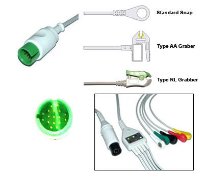 Spacelabs Ultraview Ecg Cable With Leads