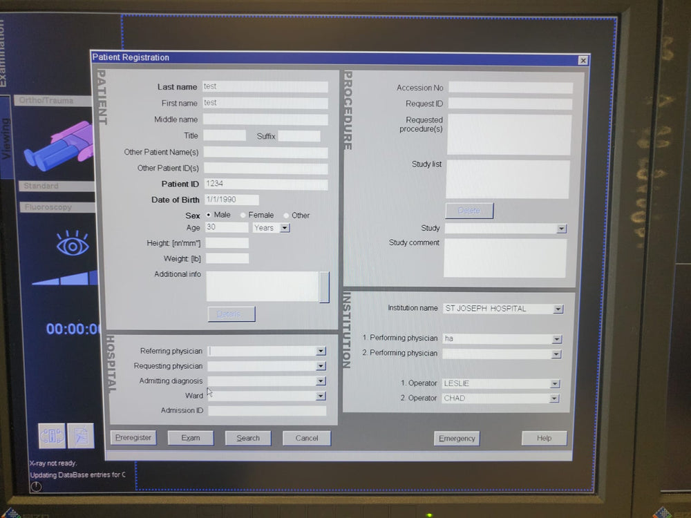 Siemens ARCADIS Orbic 2005 with COLOR LCD Monitors