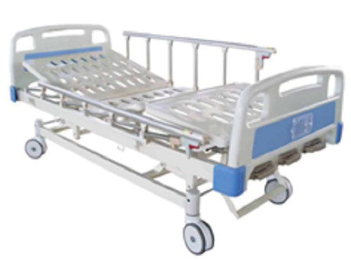 3-Crank Marine Blue Manual Bed