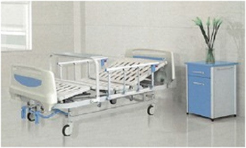 Light Blue 2-Function Manual Bed