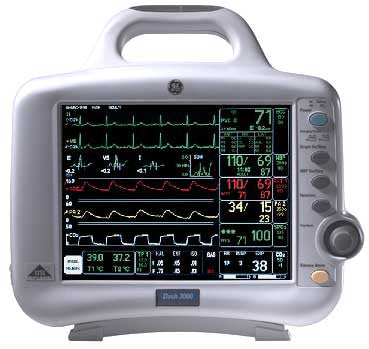 Ge Dash 3000 Pro Patient Monitor With Co2 Monitor