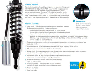 "Bilstein 41-284865 B8 8112 Coilover Front Left 1.5-3"" for Toyota 4Runner 2010-2020, FJ Cruiser 2010-2014 FRONT LEFT"