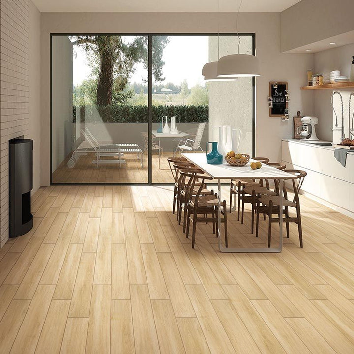A.M. Beige Timber Look Porcelain 1200x200