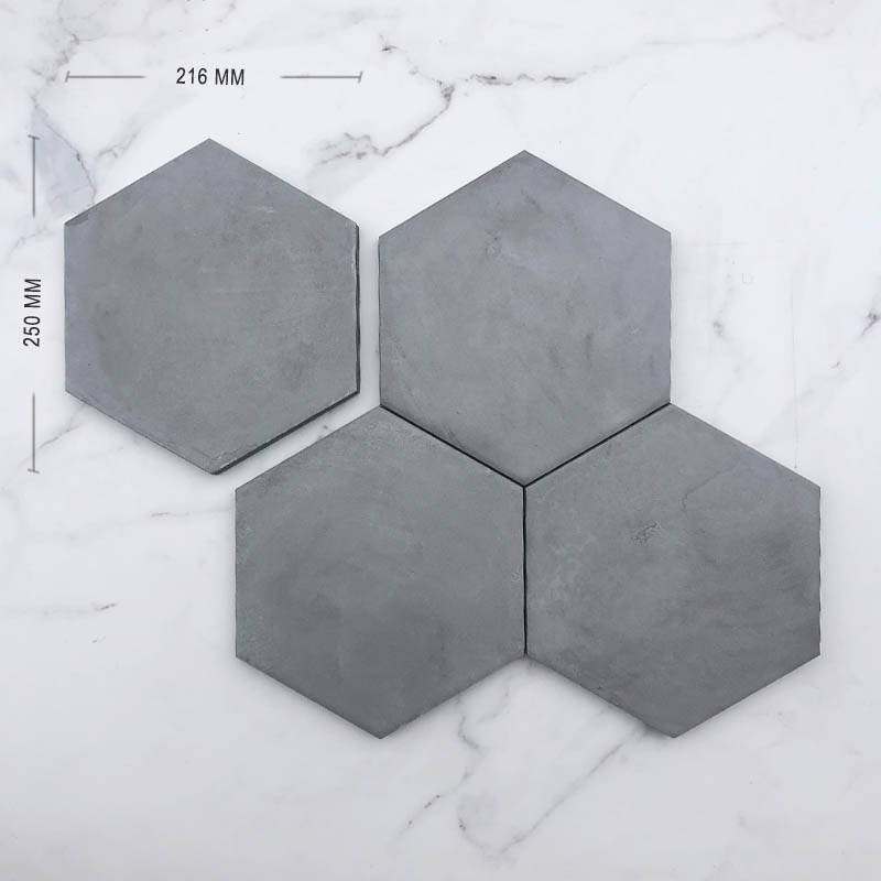 Antracite Italain Hexagon Porcelain Dimension