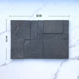 Modular Black Quartzite Cladding