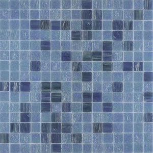 TREND BLUE SHELL GLASS MOSAIC POOL TILE