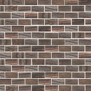 Brillante 218. Brick Glass Mosaic Pool Tile