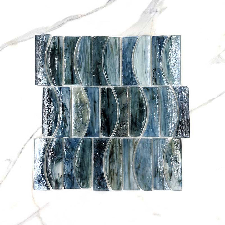 Bronte Wave Hand Made Glass Mosaic