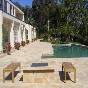 CLASSIC TUMBLED TRAVERTINE PROJECT PHOTO 2
