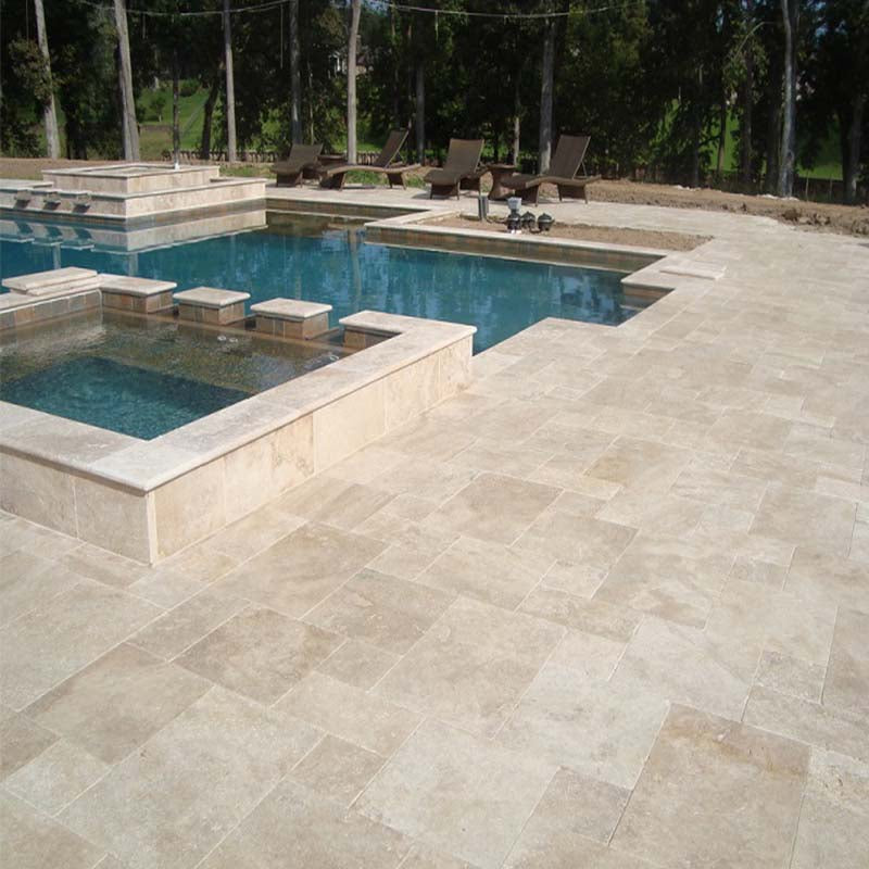 CLASSIC TUMBLED TRAVERTINE PROJECT PHOTO