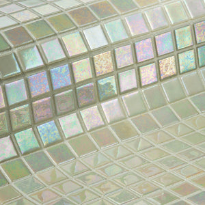 Iris Marfil Glass Mosaic Pool Tile