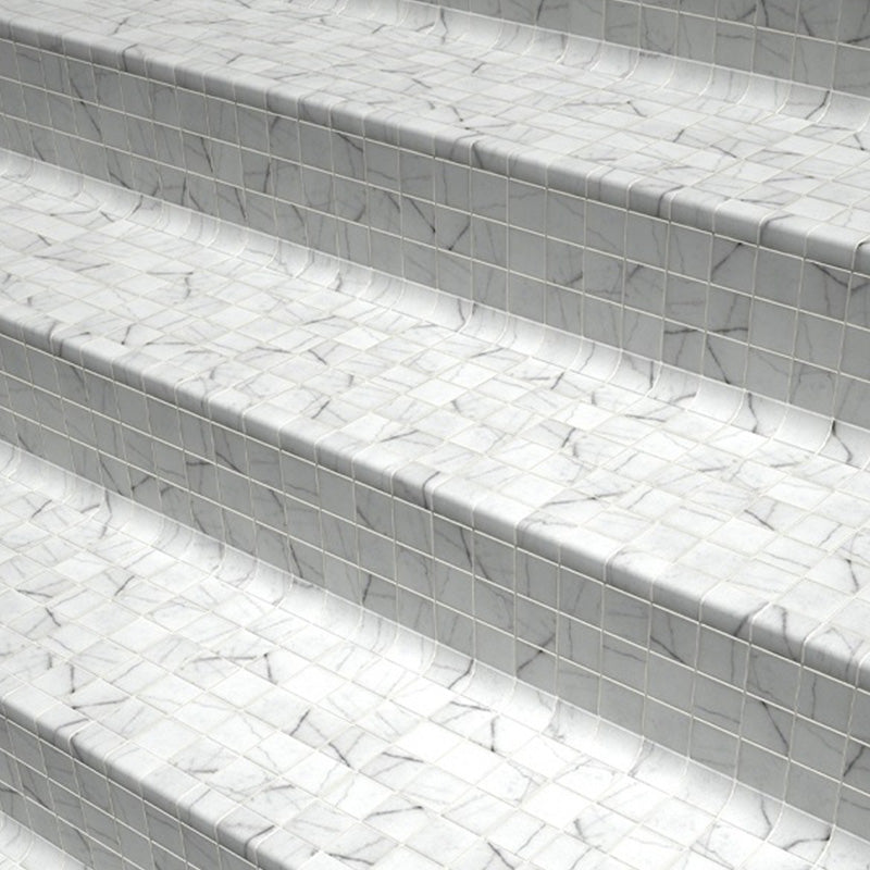 COVE CARRARA SAFE GLASS MOSAIC POOL TILE