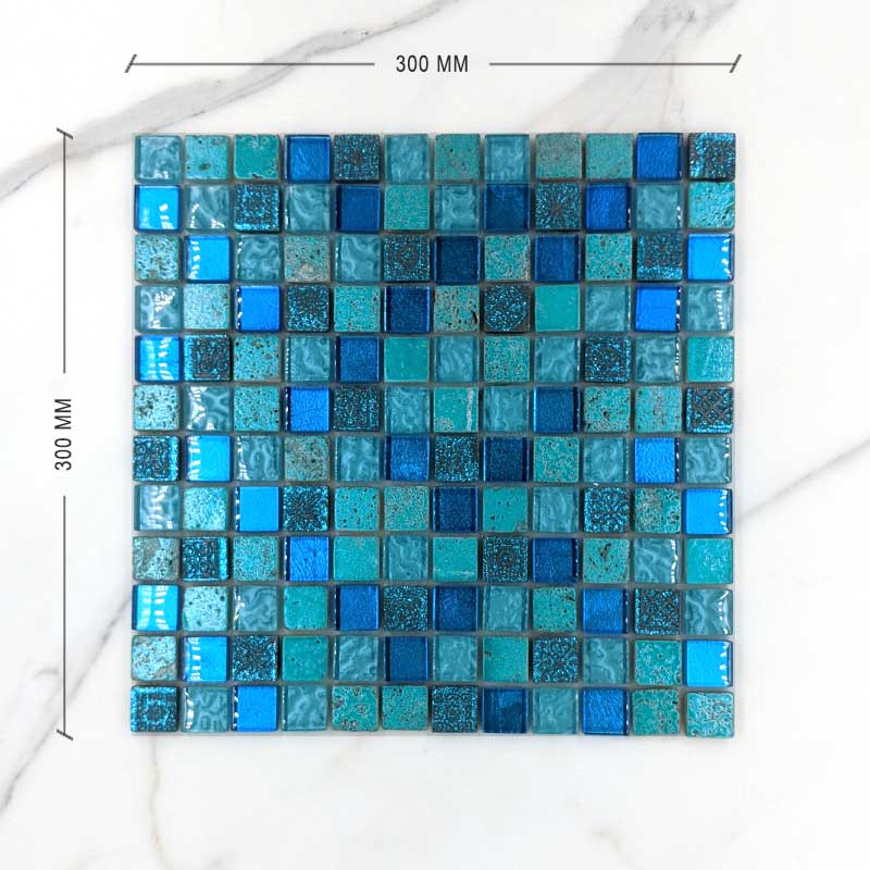 Exotic Aquamarine Mosaic Dimension