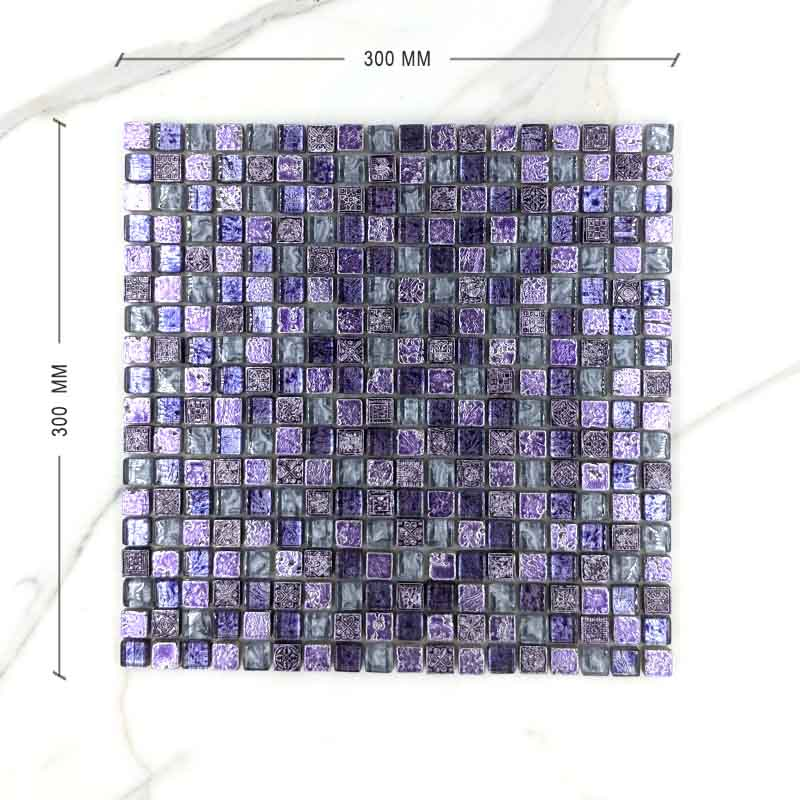 Exotic Lilac Purple Mosaic Dimension