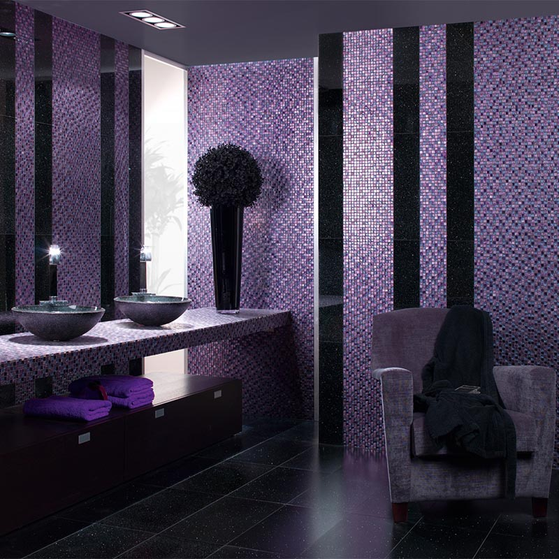 Exotic Lilac Purple Mosaic Project Photo
