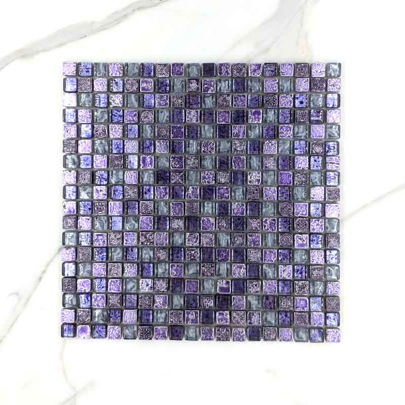 Exotic Lilac Purple Mosaic