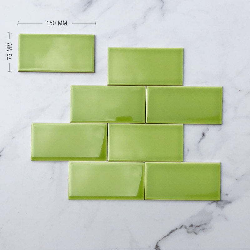 Green Subway Ceramic 150x75 Dimension