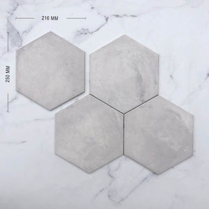 Grigio Italain Hexagon Porcelain Dimension