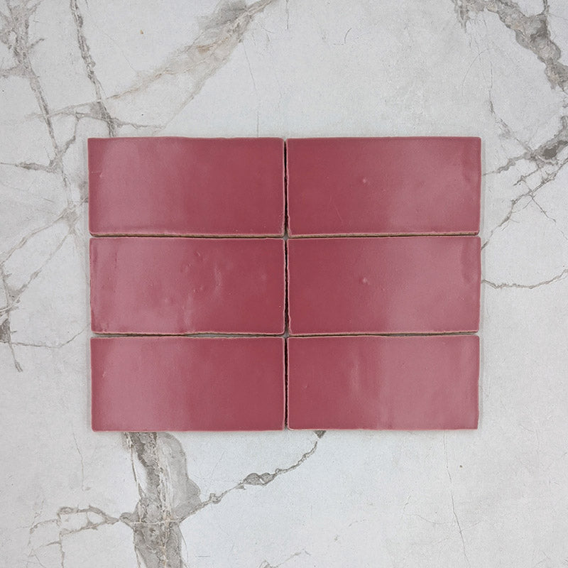 Hot Pink Moroccan Porcelain 150x75