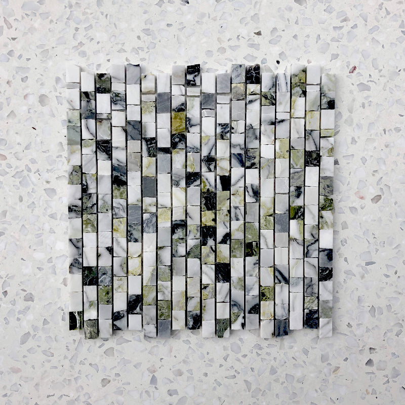 Mini Brick Ice Jade Marble Mosaic