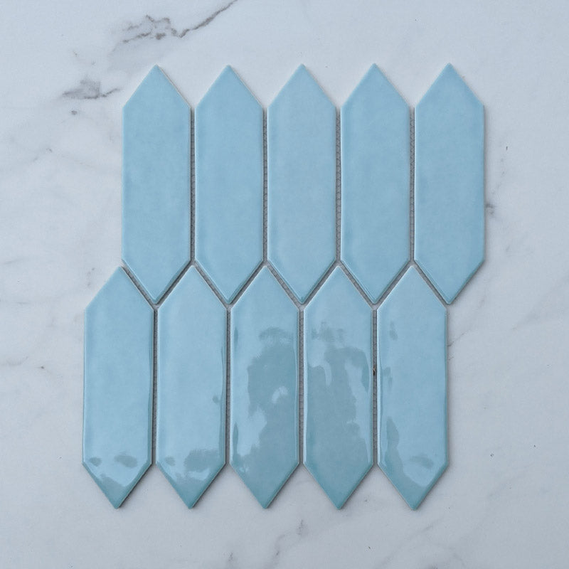 Jade Picket Porcelain Mosaic