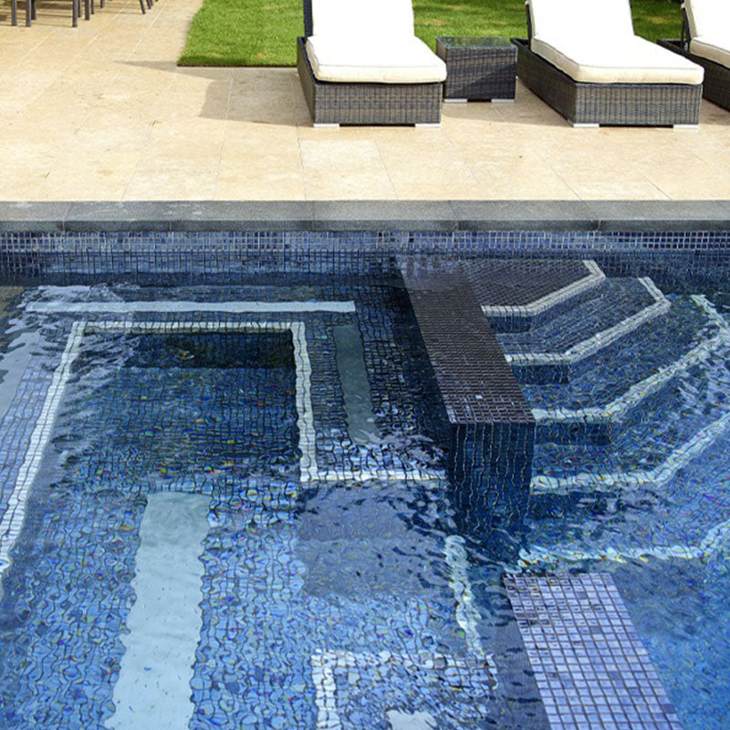 METALLIC LAVA GLASS MOSAIC POOL TILE