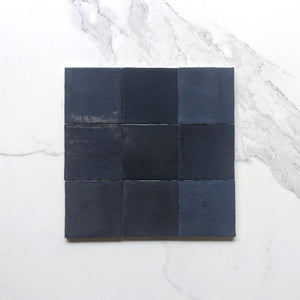 Midnight Blue Zellige Moroccan Porcelain 100x100