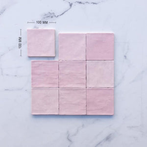 Moroccan Pink Mix Matt Porcelain Dimension