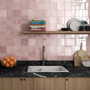 Moroccan Pink Mix Porcelain Project Photo 2