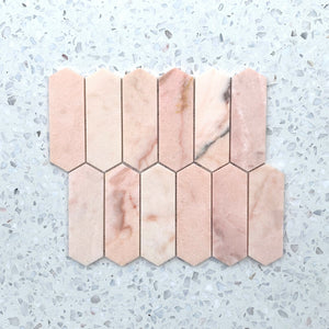 Pink Picket Marble Mosaic