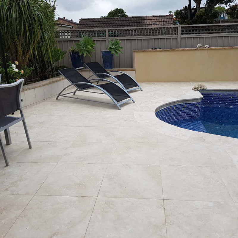 Roma Travertine Ivory 20 mm Porcelain Paver