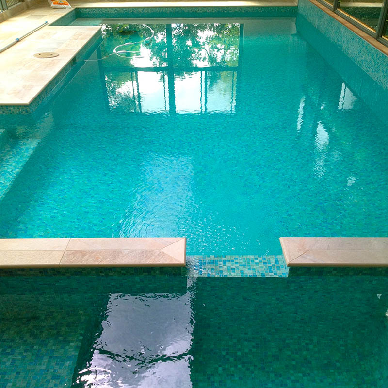 TREND RELAXATION GLASS MOSAIC POOL TILE
