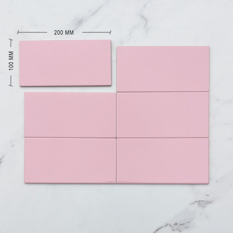 Rosa Pink Spanish Subway Ceramic 200x100 Dimension