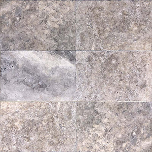 SILVER TUMBLED TRAVERTINE VARIATION