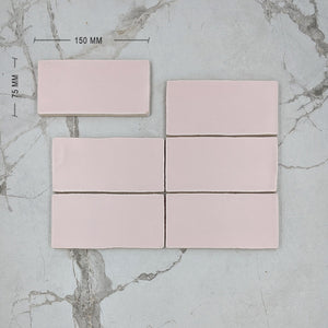 Soft Pink Moroccan Porcelain 150x75 Dimension