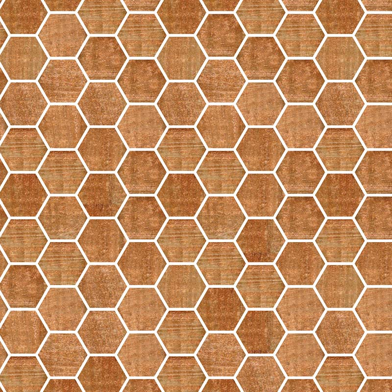 TREND HEX-222 GLASS MOSAIC POOL TILE
