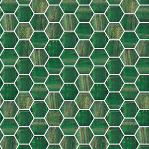 TREND HEX-236 GLASS MOSAIC POOL TILE
