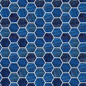 TREND HEX-239 GLASS MOSAIC POOL TILE