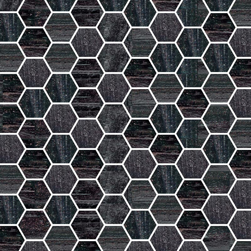 TREND HEX-260 GLASS MOSAIC POOL TILE