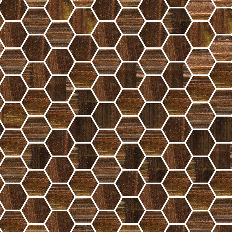 TREND HEX-270 GLASS MOSAIC POOL TILE
