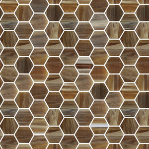 TREND HEX-282 GLASS MOSAIC POOL TILE